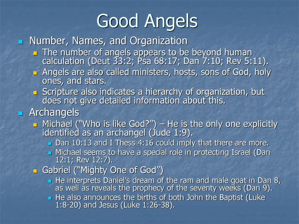 Systematic Theology I Angelology – Part I - ppt download