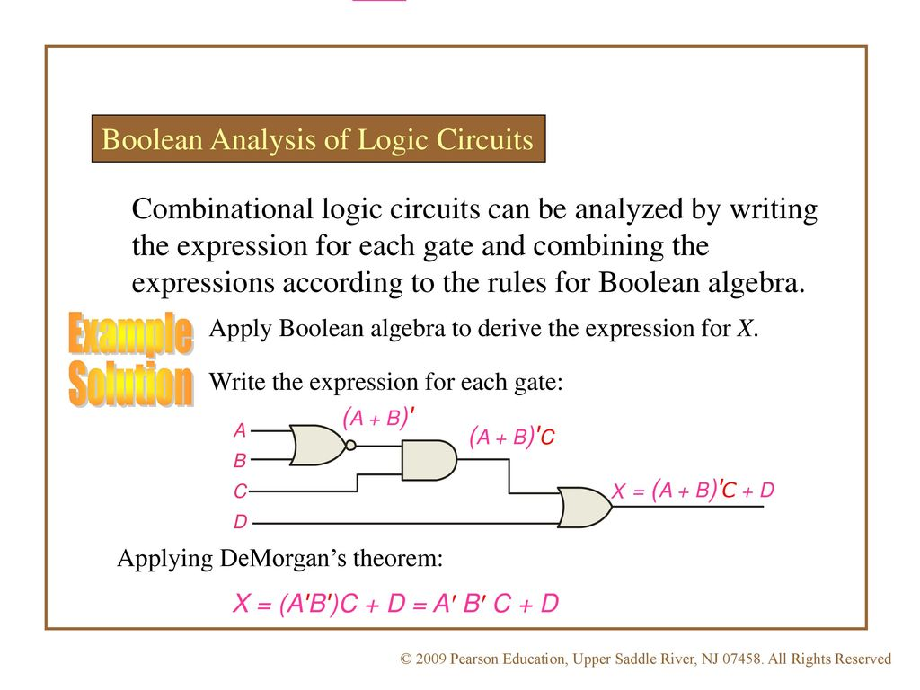Egr 2131 Unit 2 Boolean Algebra And Logic Gates Ppt Download Circuit Examples 60 Example Solution Analysis Of Circuits