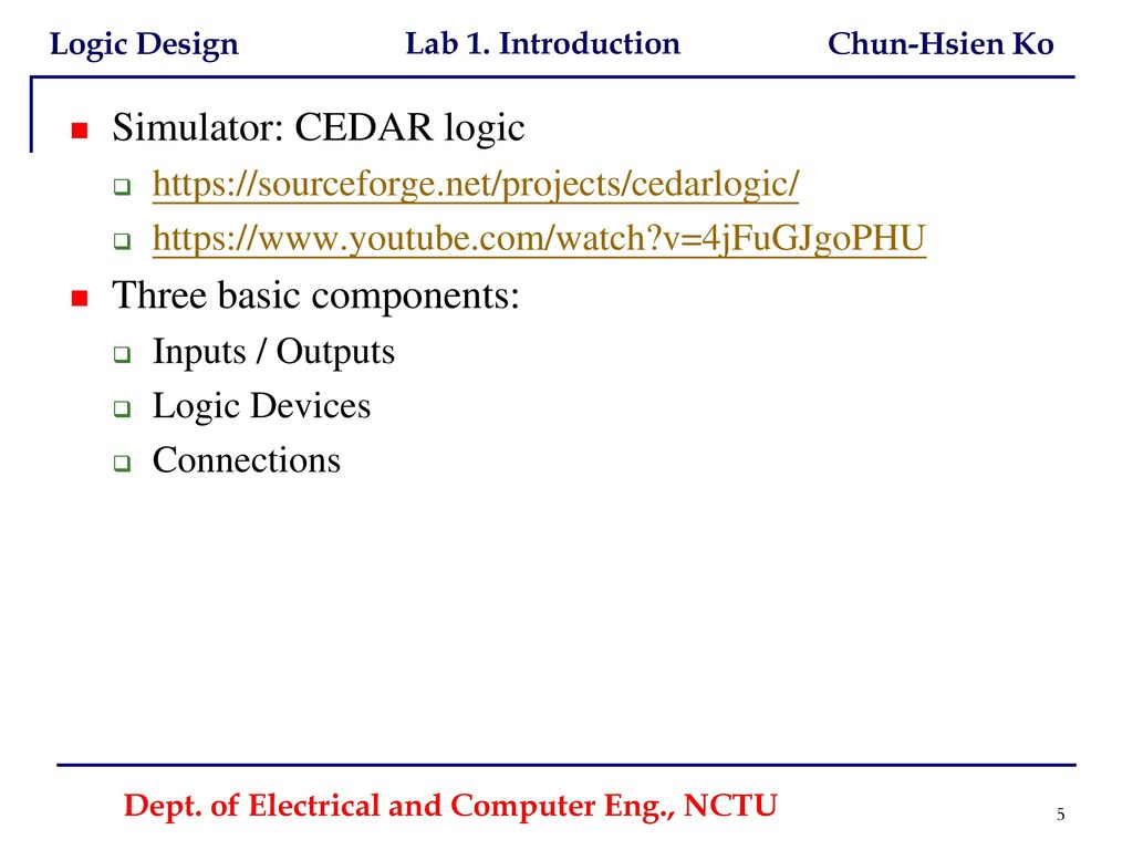 Dept  of Electrical and Computer Eng , NCTU - ppt download
