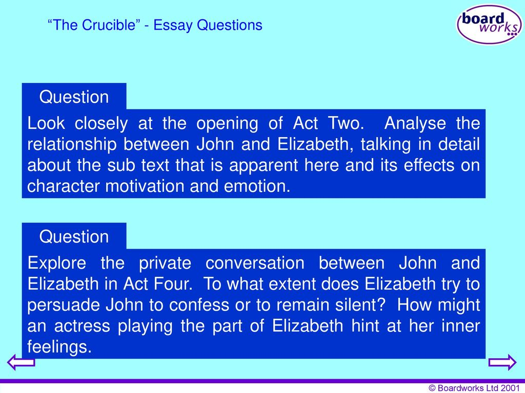 Literature The Crucible  Ppt Download The Crucible  Essay Questions
