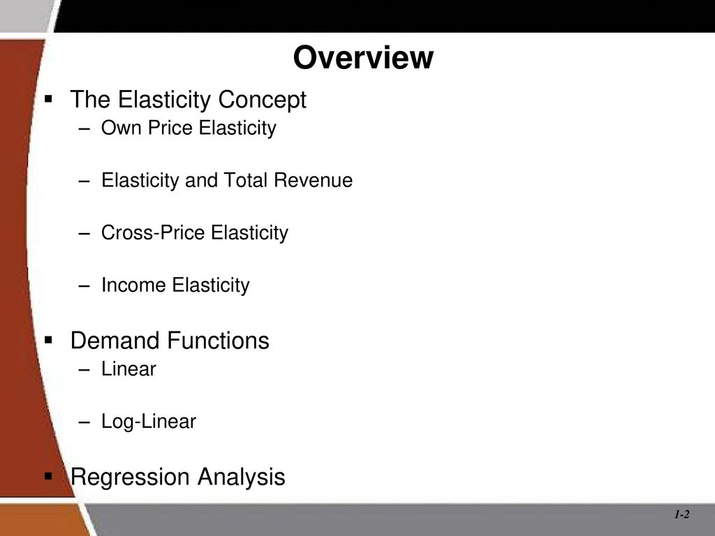 Quantitative Demand Analysis Elasticity And Its Applications Ppt