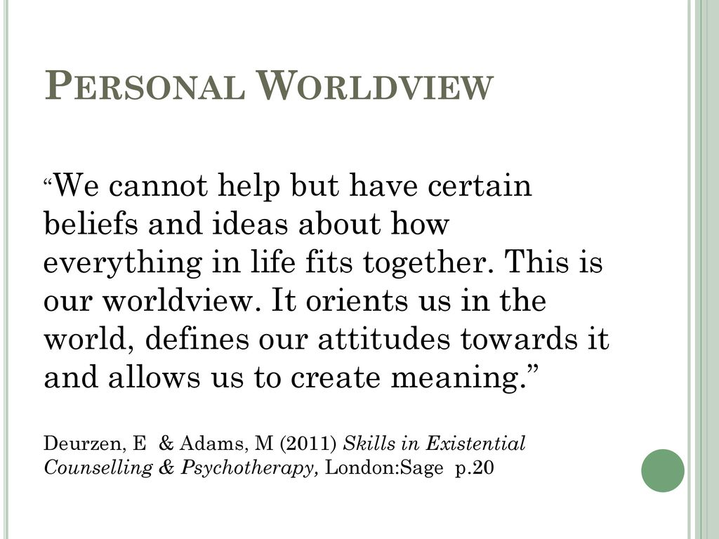 personal worldview
