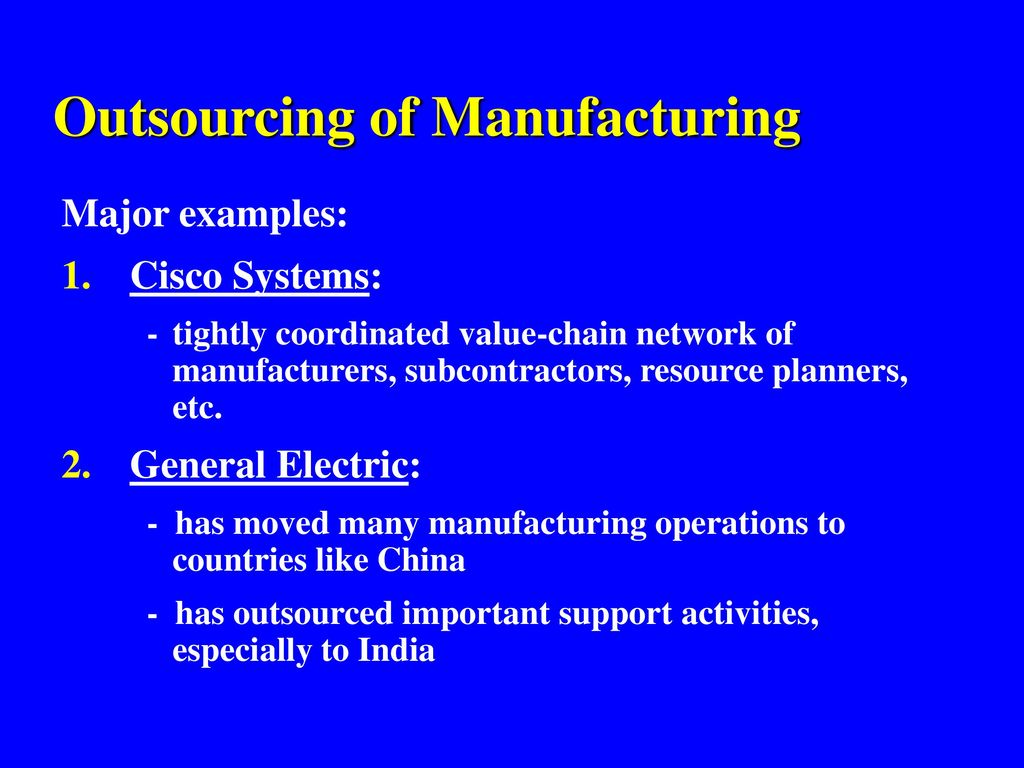 general electric outsourcing