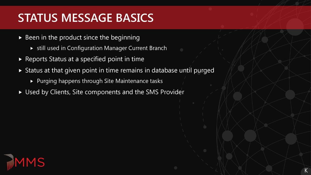 ConfigMgr State & Status messages A through Z - ppt download