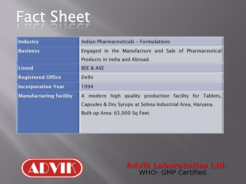 An Introduction to Advik Laboratories Ltd - ppt download