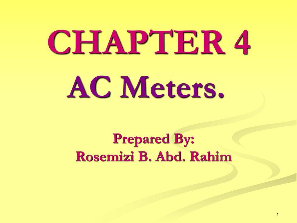 Prepared By Rosemizi B Abd Rahim