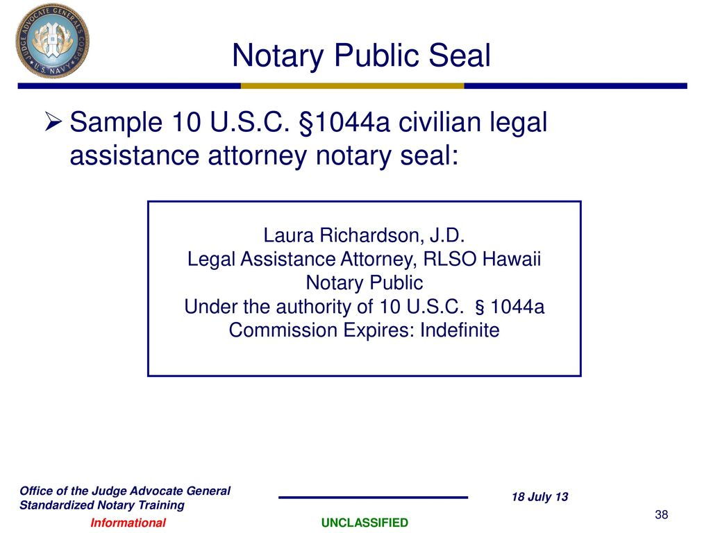 Notary Law: changes from 2018 37