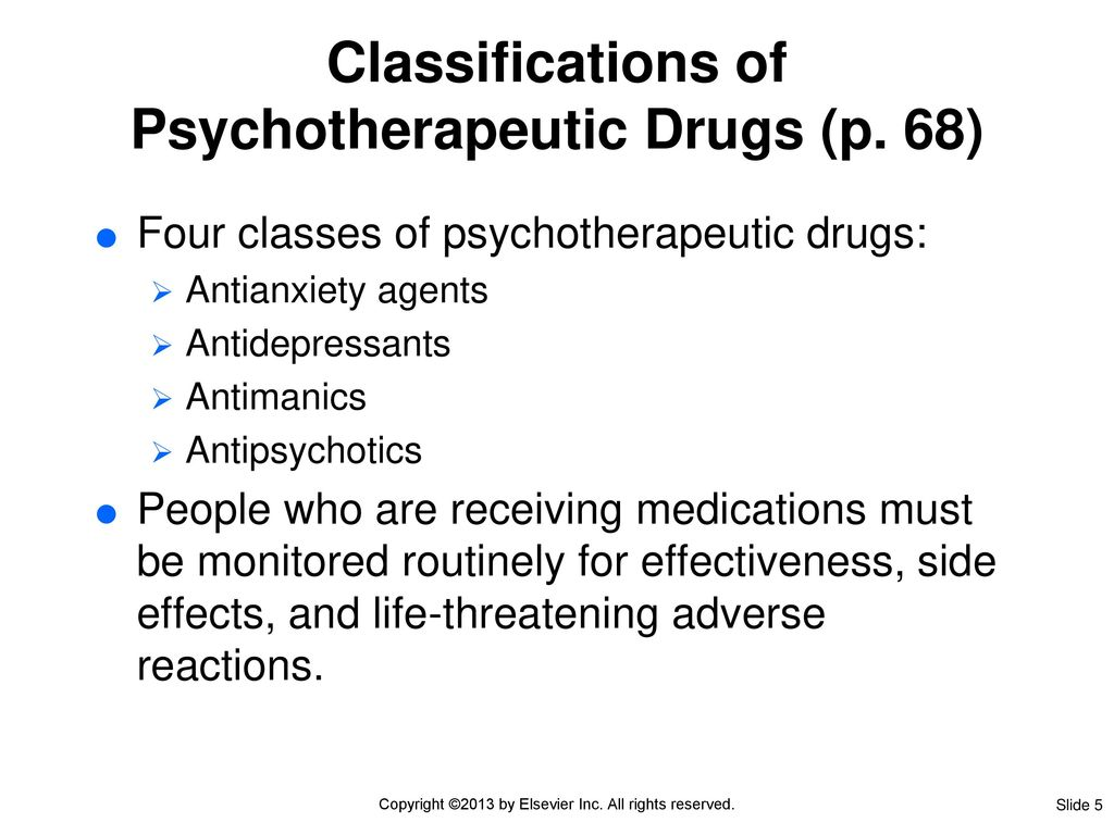 psychotherapeutic drug therapy - ppt download