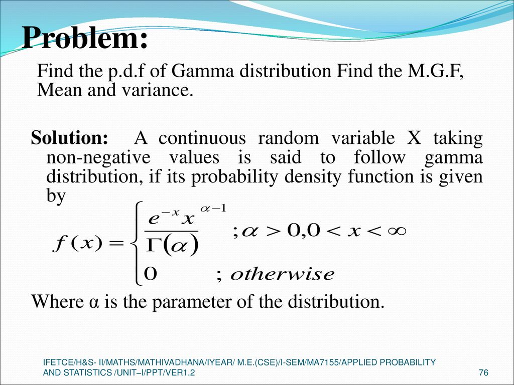 ONE DIMENSIONAL RANDOM VARIABLES - ppt download