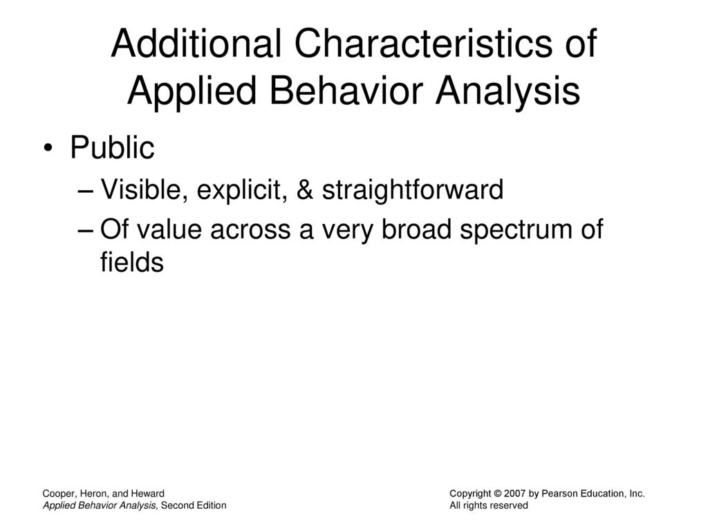 applied behavioral analysis essay The classes offered within the applied behavior analysis course sequence are approved by the behavior analyst certification board (bacb) under the 4th edition standards and satisfy the coursework requirements to become a board certified behavior analyst (bcba.