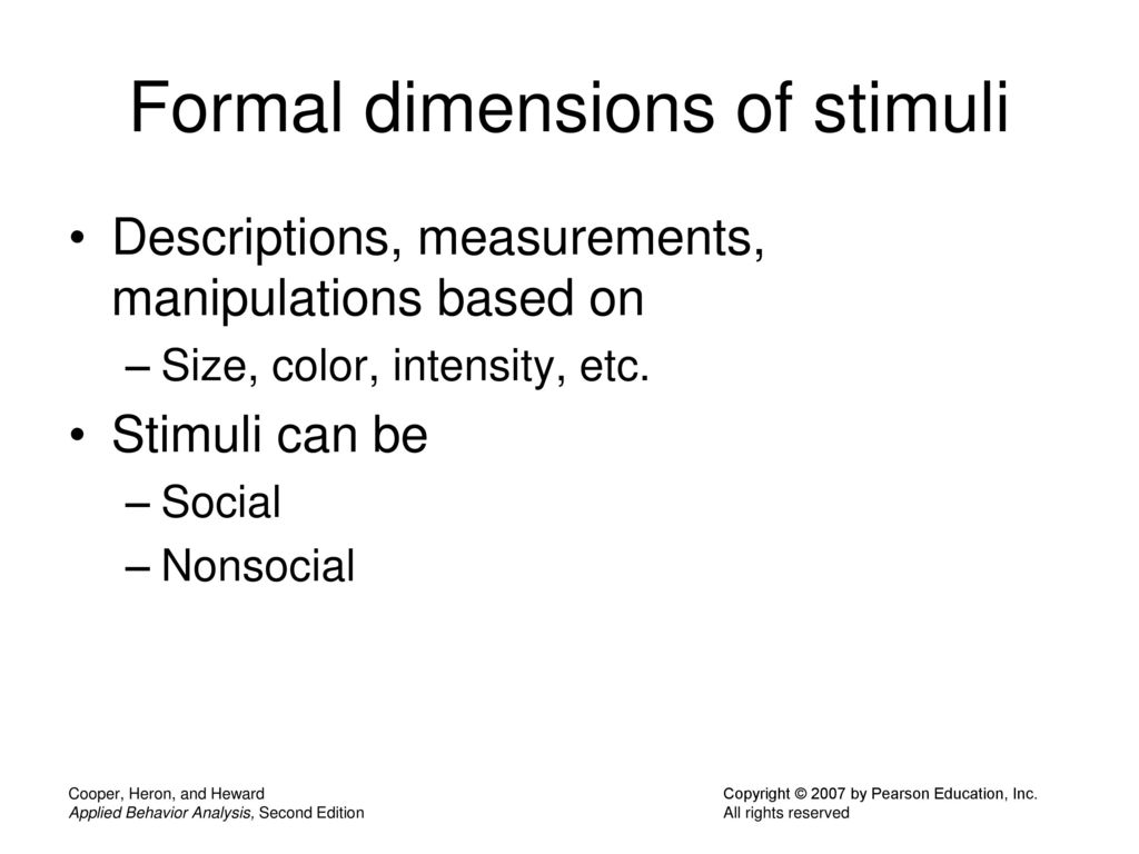 75 Formal dimensions of stimuli