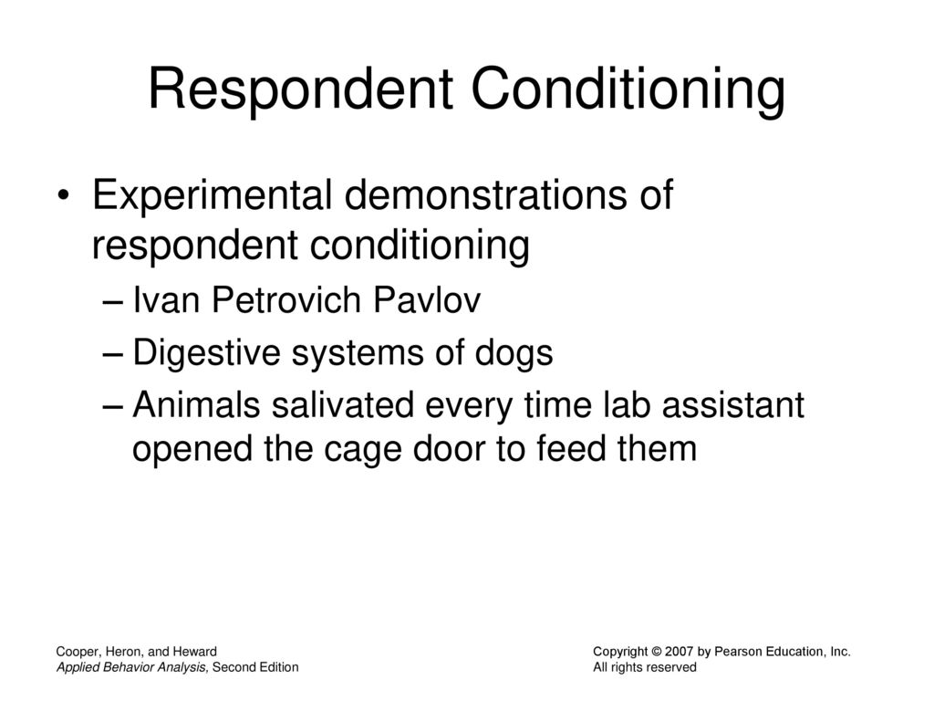 84 Respondent Conditioning