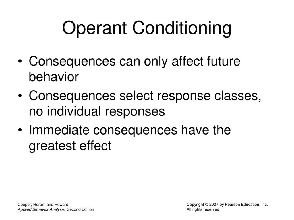 91 Operant Conditioning Consequences ...