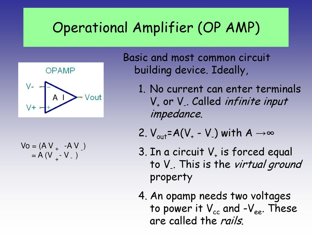 Transistor Ppt Download Complete Ecg Circuit Diagram With Virtual Ground Operational Amplifier Op Amp