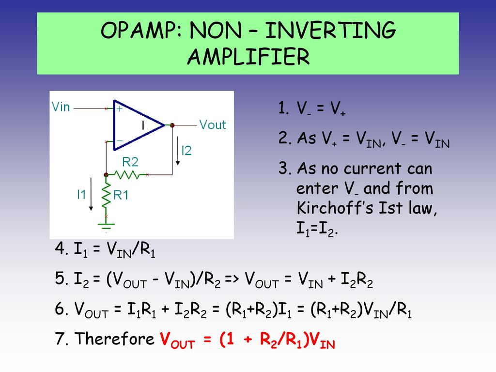 Transistor Ppt Download Op Amp How Does This Opamp Noninverting Amplifier Work 28 Non Inverting