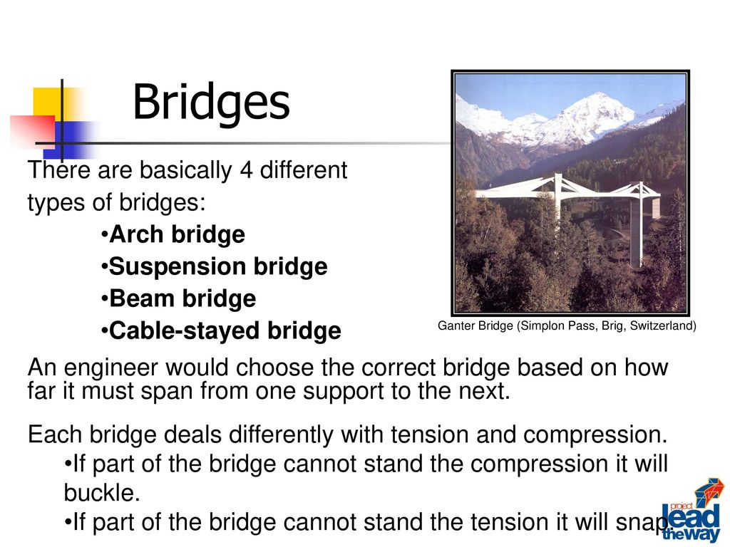 Bridges There Are Basically 4 Different Types Of Bridges Arch