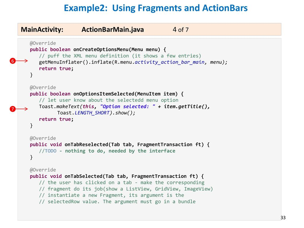 ActionBar, Fragments and the TabHost - ppt download