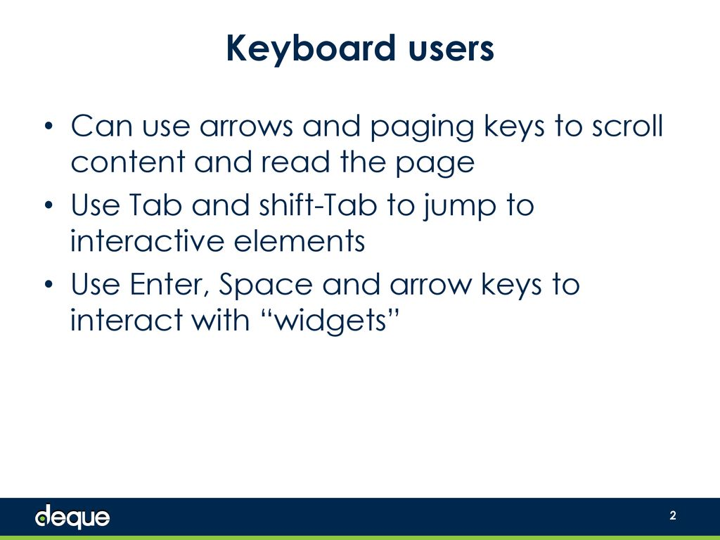 Keyboard Accessibility - ppt download