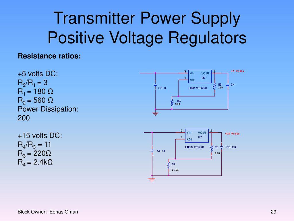 Millennium Infrared Sound System Ppt Download Alternate Positivevoltage Switching Regulator Circuit Diagram Transmitter Power Supply Positive Voltage Regulators
