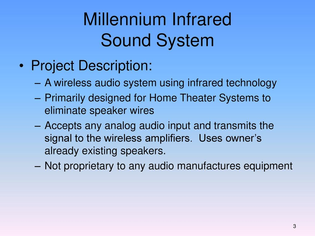 Millennium Infrared Sound System - ppt download