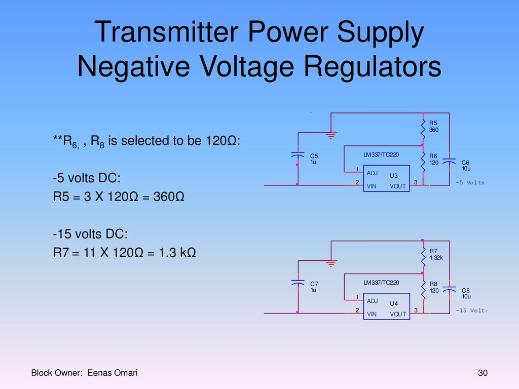 Millennium Infrared Sound System Ppt Download How Can I Power The Es Series Transmitter With 5 Volts Supply Negative Voltage Regulators