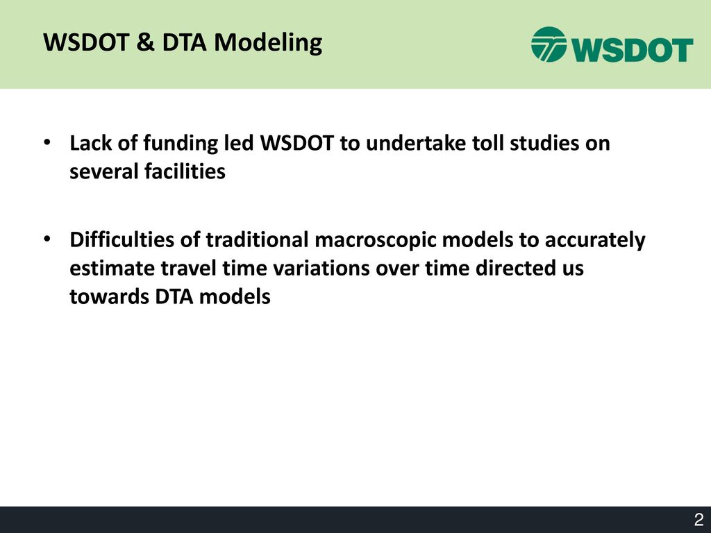 WSDOT's Dynameq Projects - ppt download
