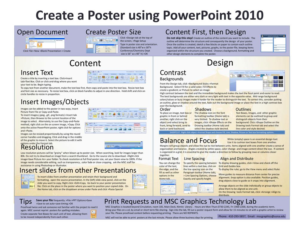 create a poster using powerpoint ppt download