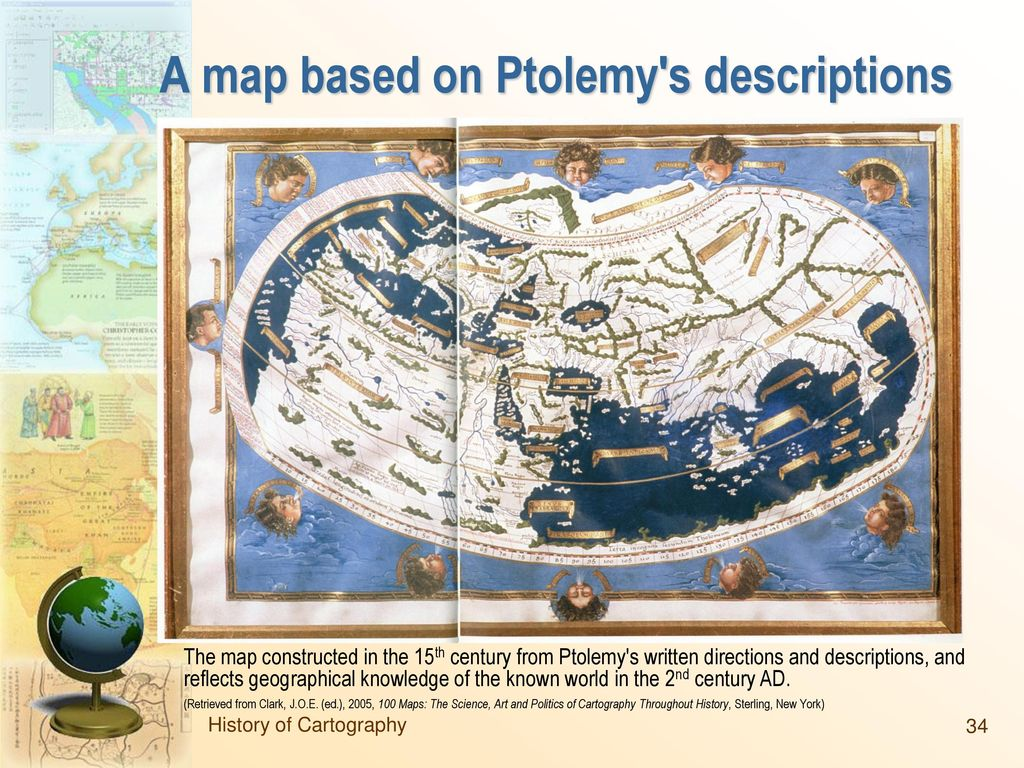 A map based on Ptolemy s descriptions