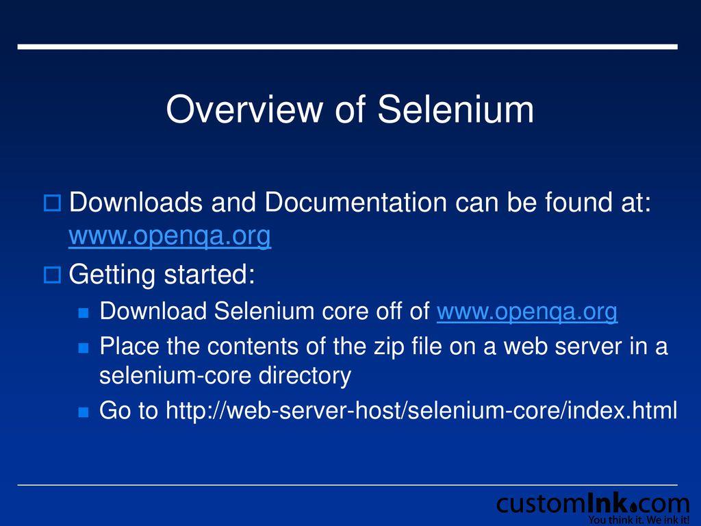 Selenium and Selenium on Rails - ppt download