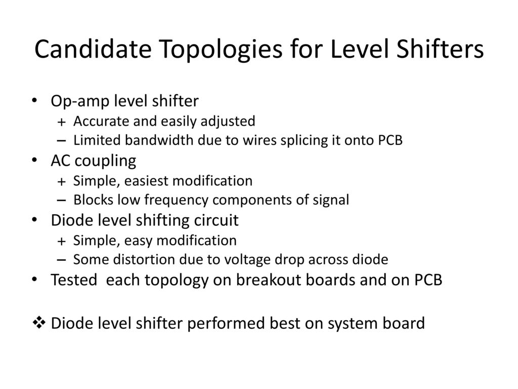Amplitude Feedback Subcircuit Schematic Modifications Ppt Download Voltage Level Shifter Circuit Candidate Topologies For Shifters