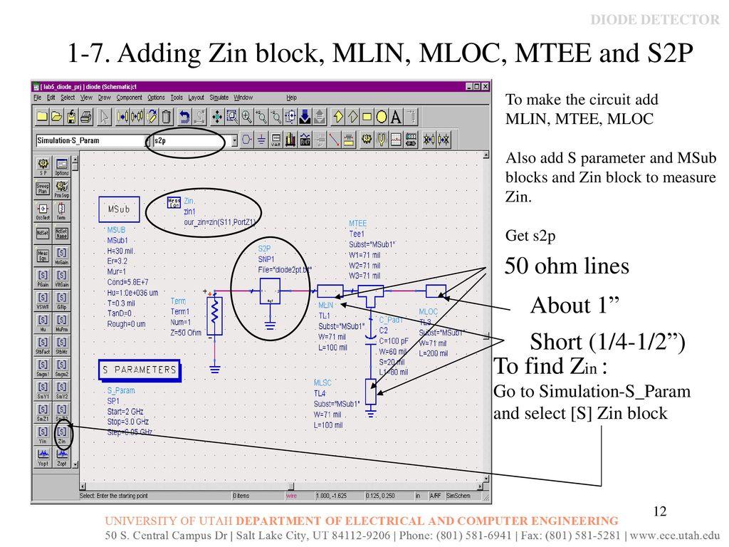Diode Detector Simulation, Design and Measurement - ppt download