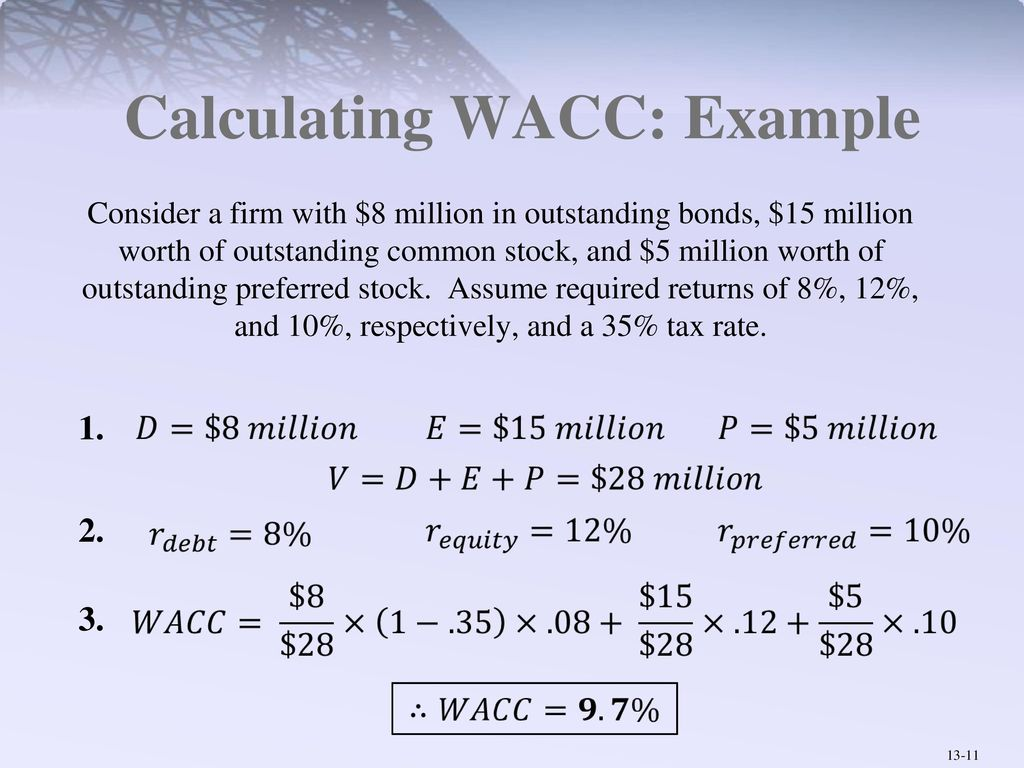 Wacc example 2 finding pre tax wacc youtube.