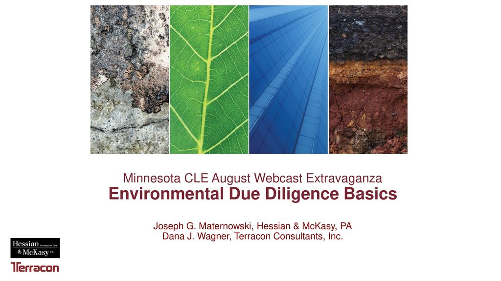Minnesota CLE August Webcast Extravaganza Environmental Due