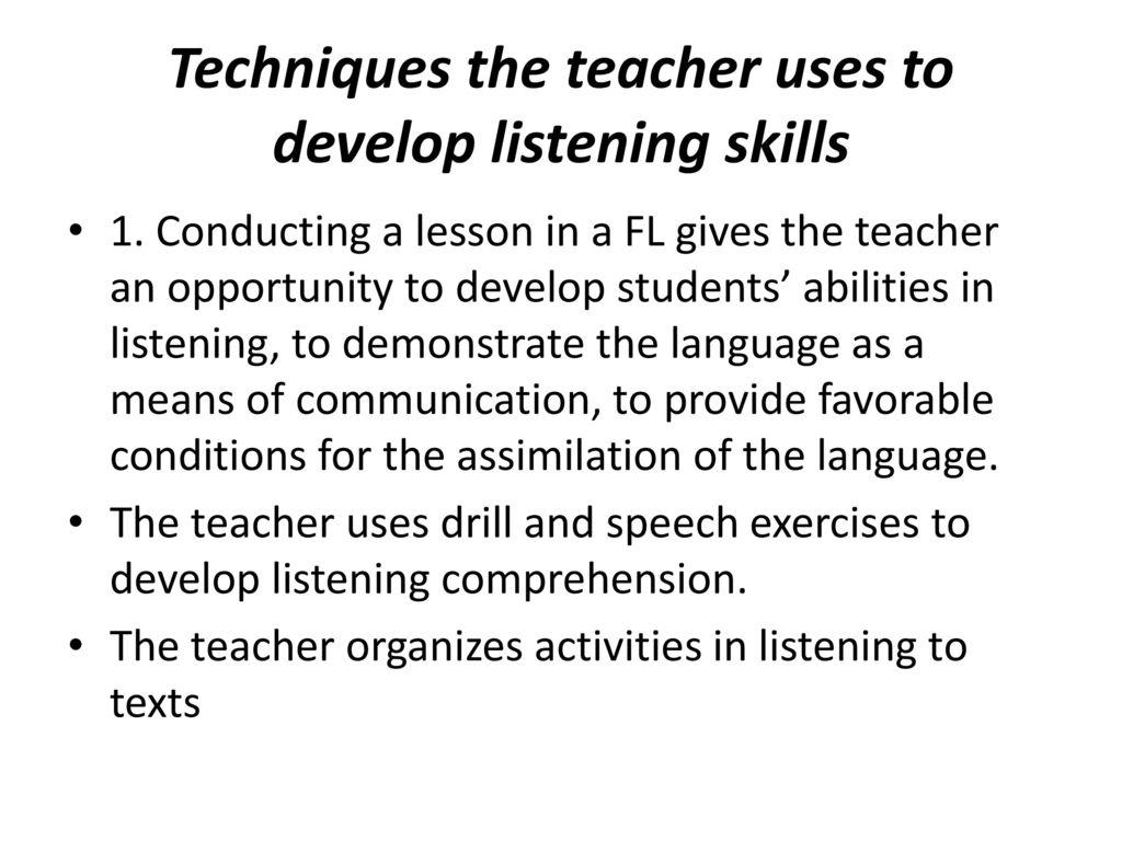 TEACHING LANGUAGE SKILLS: Teaching listening - ppt download