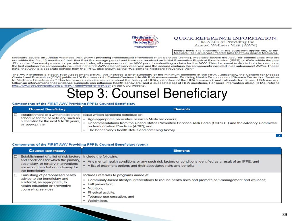 39 Step 3: Counsel Beneficiary