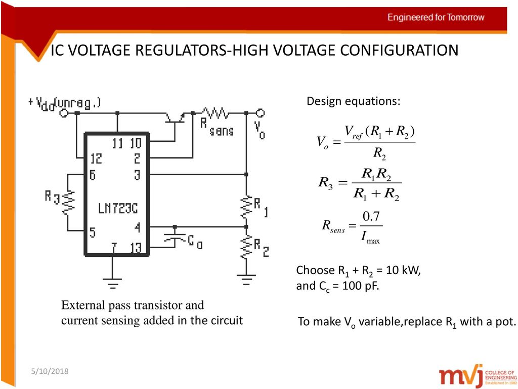 Subject Name Linear Integrated Circuits Code 10ec46 Ppt Current Limit Circuit For Voltage Regulator Technical Community Ic Regulators High Configuration