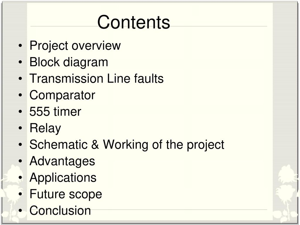 Three Phase Fault Analysis With Auto Reset On Temporary And Circuit Diagram Of Timer Relay Contents Project Overview Block Transmission Line Faults
