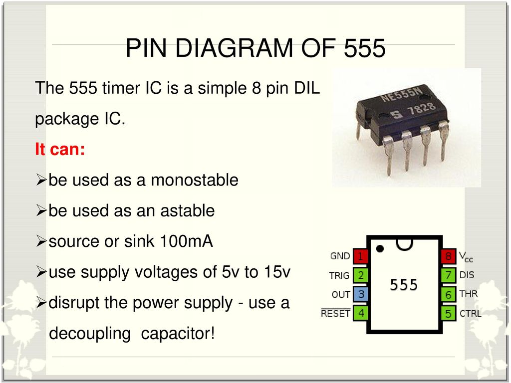 Three Phase Fault Analysis With Auto Reset On Temporary And Automatic Changeover Switch Circuit Using 555 Timer Pin Diagram Of The Ic Is A Simple 8 Dil Package