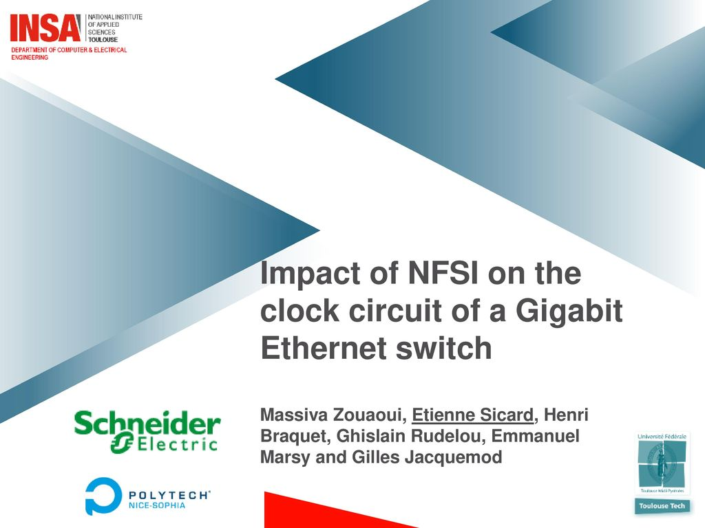 Impact Of Nfsi On The Clock Circuit A Gigabit Ethernet Switch Circuits Images