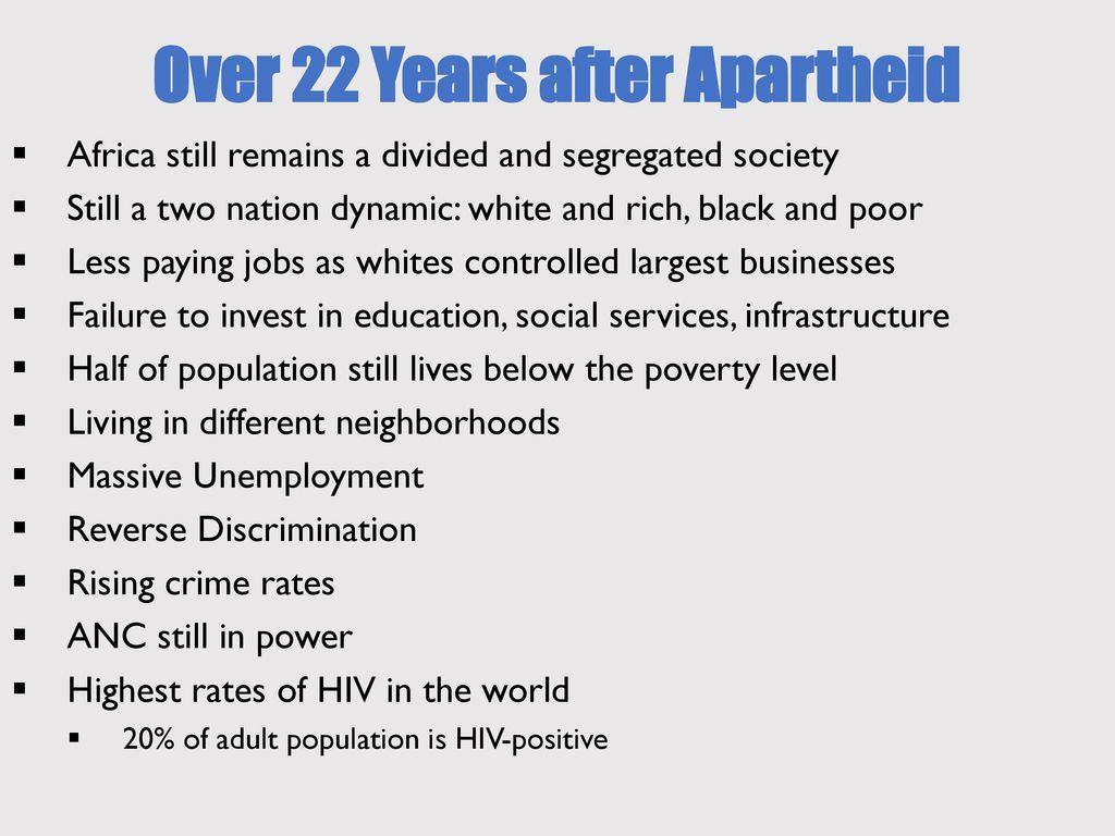 racial segregation in south africa - ppt download
