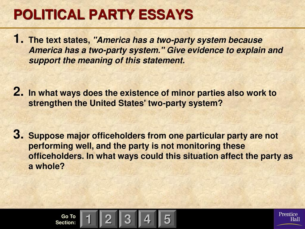 How To Do A Persuasive Essay Political Party Essays Essay Father also Essay On Renewable Energy Magruders American Government  Ppt Download Book Report Essay Example
