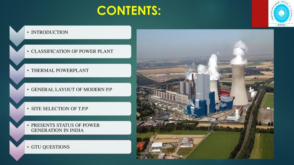 contents: introduction classification of power plant