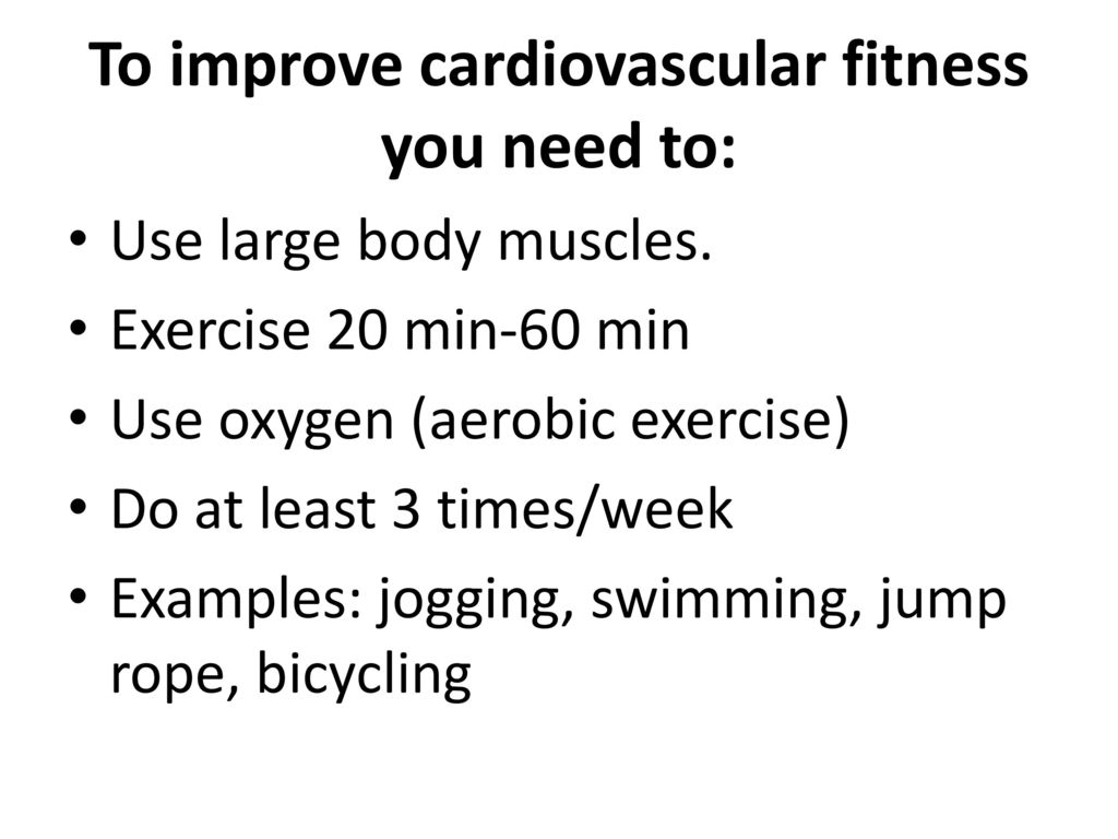 Watch How to Improve Cardiovascular Fitness video