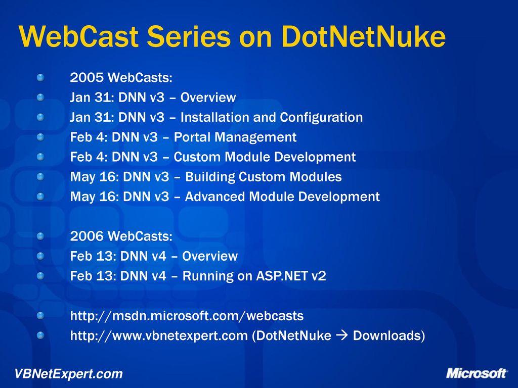 DotNetNuke v4 Web Portals - ppt download