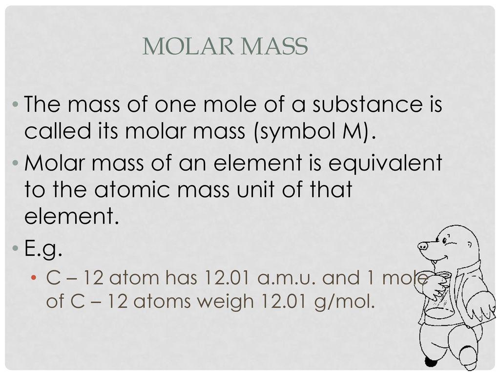 53 Molar Mass Ms Munir Ppt Download