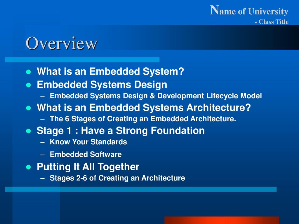 Introduction To Embedded System Design Ppt Download