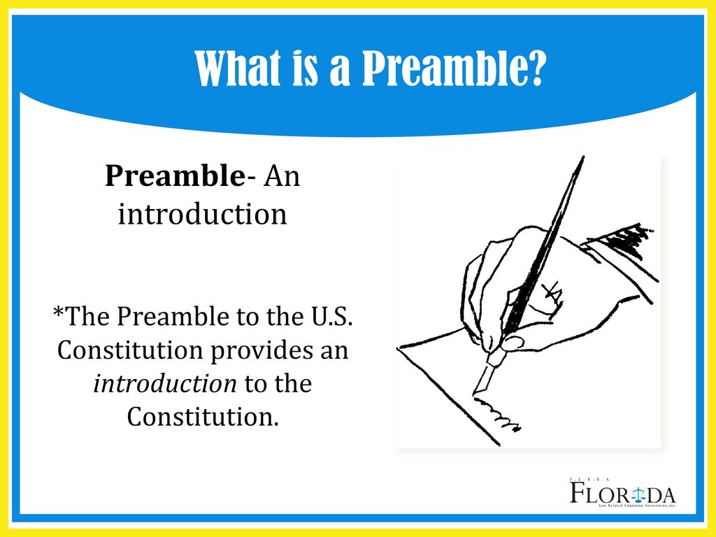 What is a preamble
