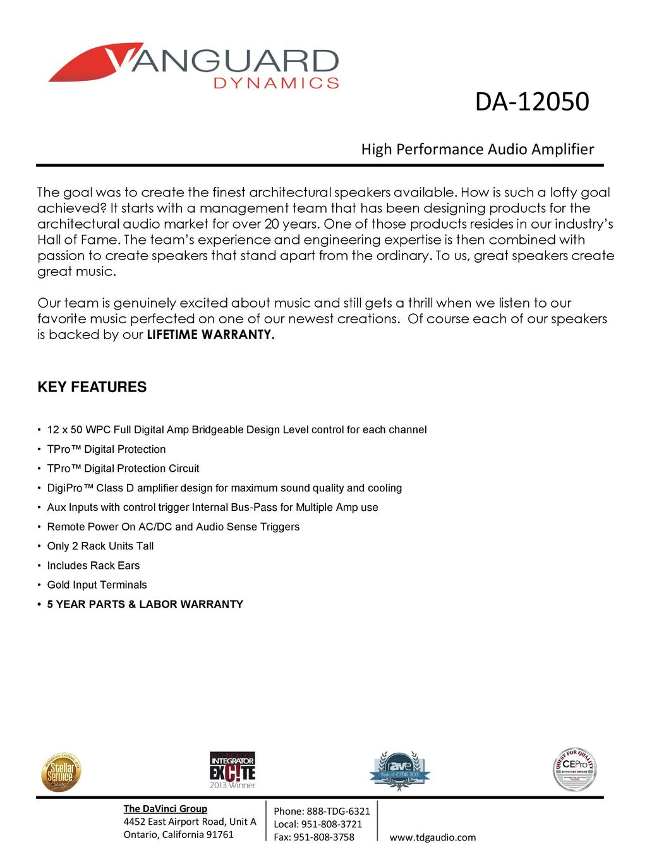 DA High Performance Audio Amplifier KEY FEATURES - ppt download