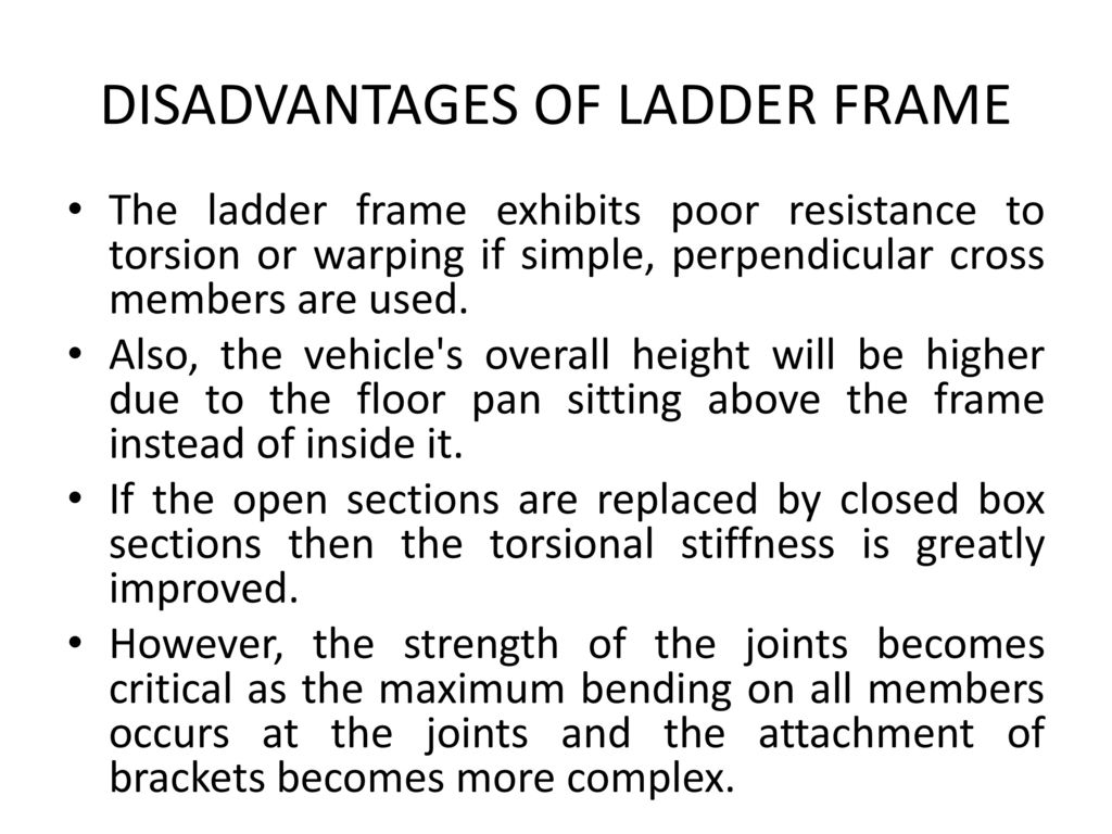 TYPES OF CHASSIS FRAMES - ppt download