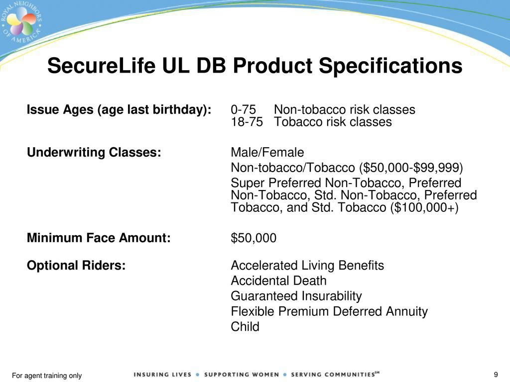 SecureLife Universal Life Death Benefit (UL DB) - ppt download